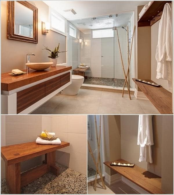 Panchine in bagno